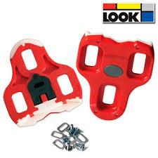 Paire Cales Chaussure Velo Route - LOOK KEO  Cleat- 3 dureté  9° Rouge