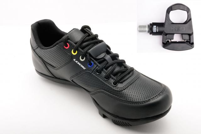 PACK CHAUSSURES Velo CITY + KEO EASY BLACK  Noir