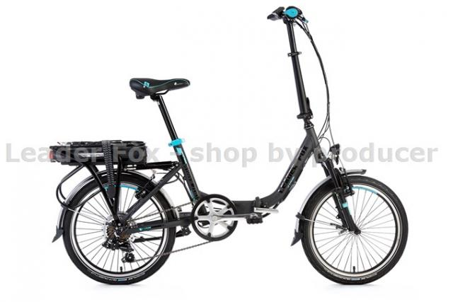 Velo Electrique Pliable-POWER 20''-Batterie 36V/13Ah-468Wh- Grey Matt / Bleu