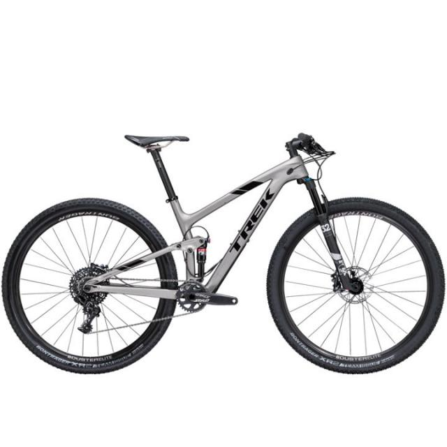 Velo VTT Tout Suspendu-Trek TOP FUEL 9.7 Carbone- Matt Silver