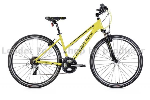 Velo Tout Chemin, VTC-Leader Fox VIATIC Lady 28'' -2017- Green/Jaune