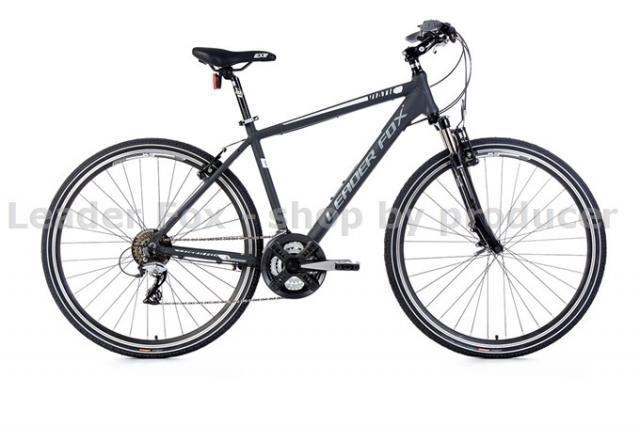Velo Tout Chemin, VTC-Leader Fox VIATIC Homme 28'' - Grey matt