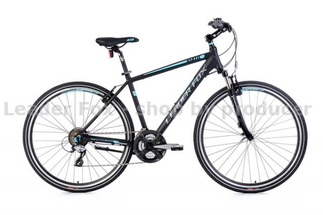 Velo Tout Chemin, VTC-Leader Fox VIATIC Homme 28'' - Noir Matt Blue