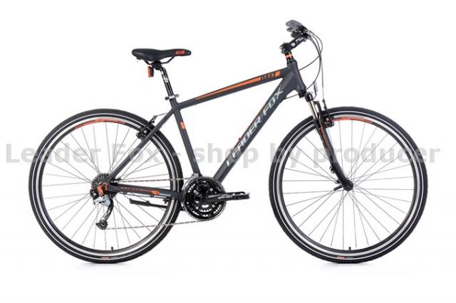 Velo Tout Chemin, VTC-Leader Fox DAFT Homme 28'' - Grey Matt Orange