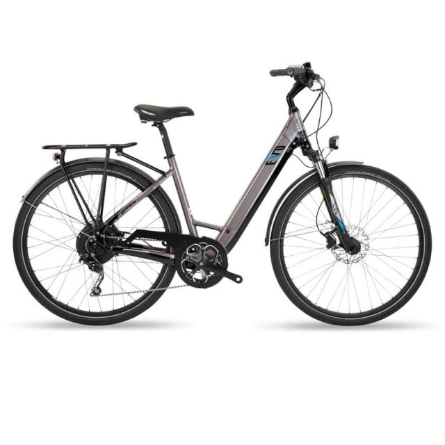 Vélo Electrique Ville- EVO City Wave -EV418-Batterie 48V/10.4Ah-500Wh- Antracite Rouge